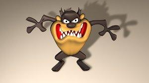 tasmanian devil 3d model