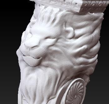 3d corbel lion head