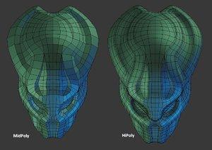 custom predator helmet 3d obj