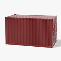 3d 3ds cargo container