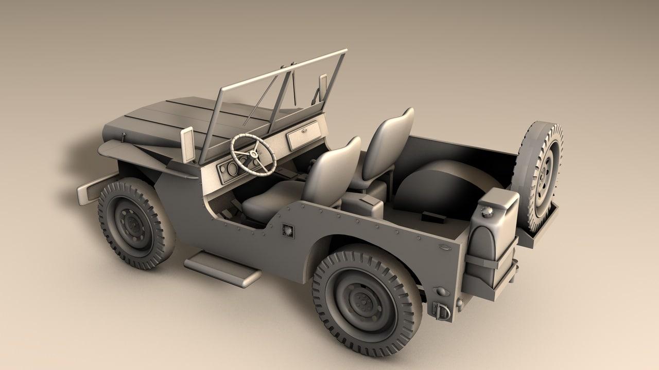 jeep willys 3d fbx