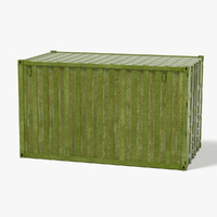 3d rusty container model