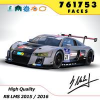3d model audi r8 lms 2016