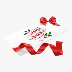 christmas envelope 3d model