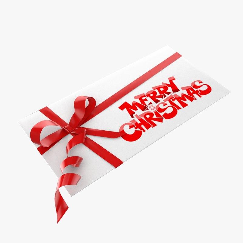 3d model christmas envelope