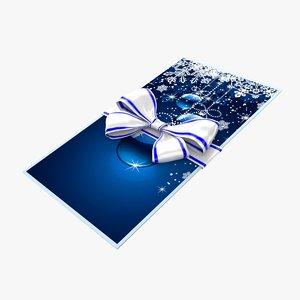 3d christmas envelope