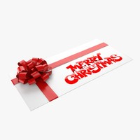christmas envelope 4 3d model