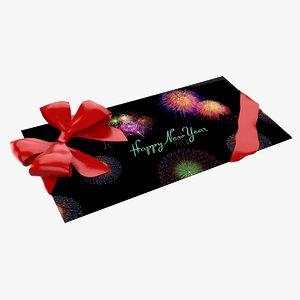 3d christmas envelope model