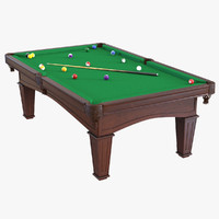 billiard table 3 3d max