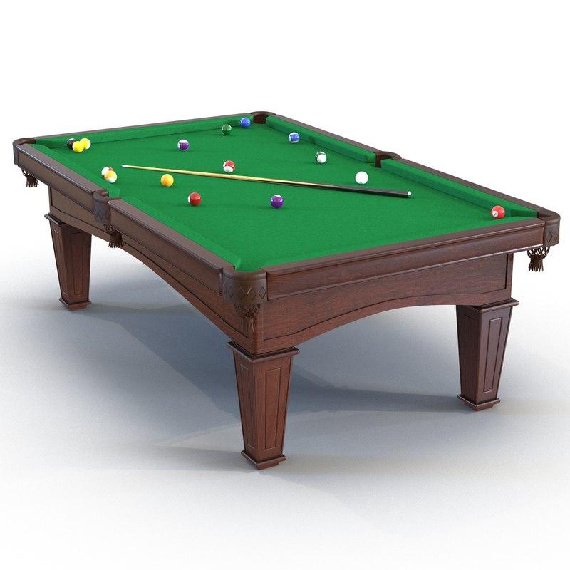 billiard table 3 3d max
