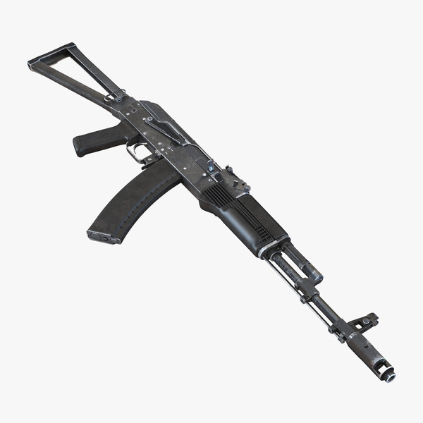 3d model assault rifle aks 74