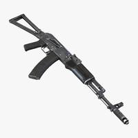Assault Rifle AKS 74 3D Model