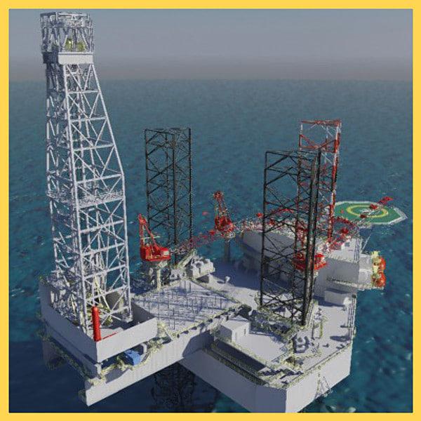 3d jack-up oil rig