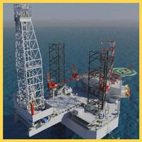 Jack Up Oil Rig