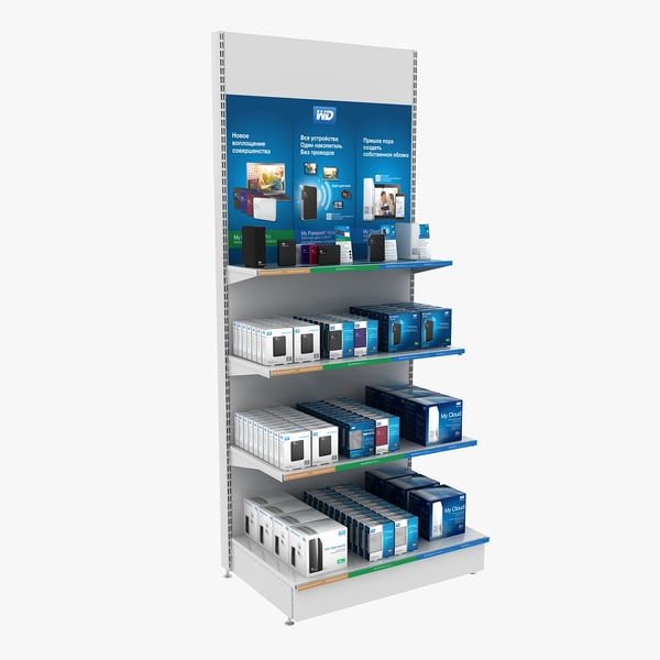 3d rack devices box model