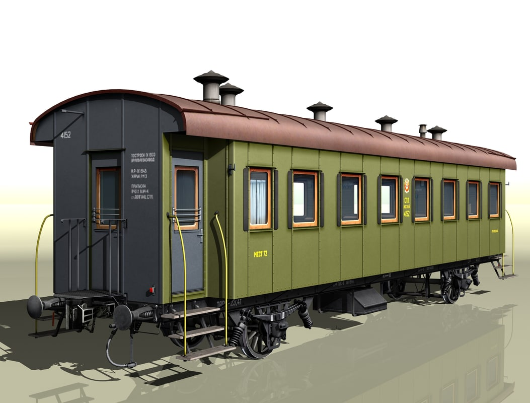 2-axles passenger wagon 4152 3d model
