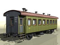 3d 2-axles passenger wagon 4152 model