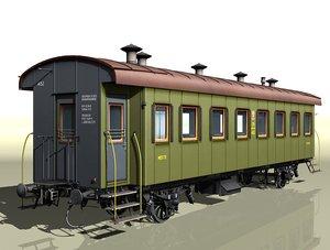 2-axles passenger wagon 4152 3d model