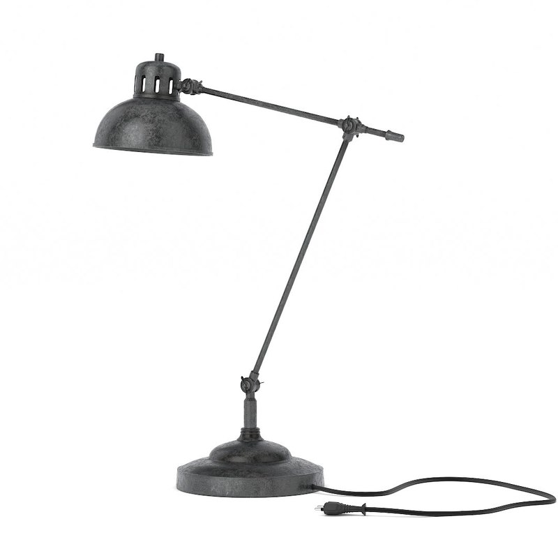 3ds max old industriel lamp