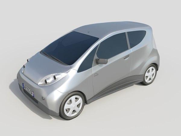 paris electric car autolib 3d model