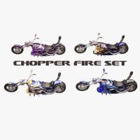 chopper 3d model