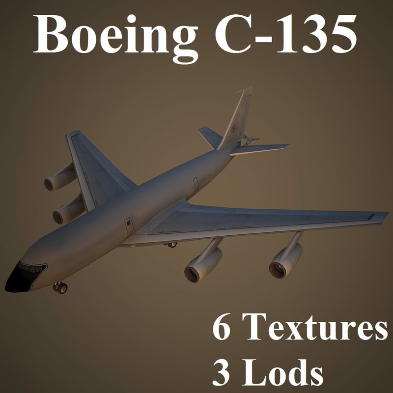 3d boeing c-135 stratolifter
