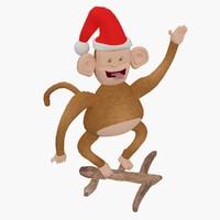 christmas toys monkey 3d max