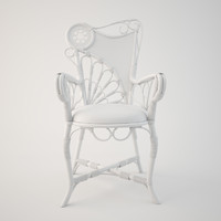3d original art nouveau armchair model