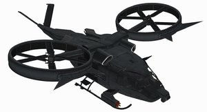 aerospatiale sa-2 samson helicopter 3d max
