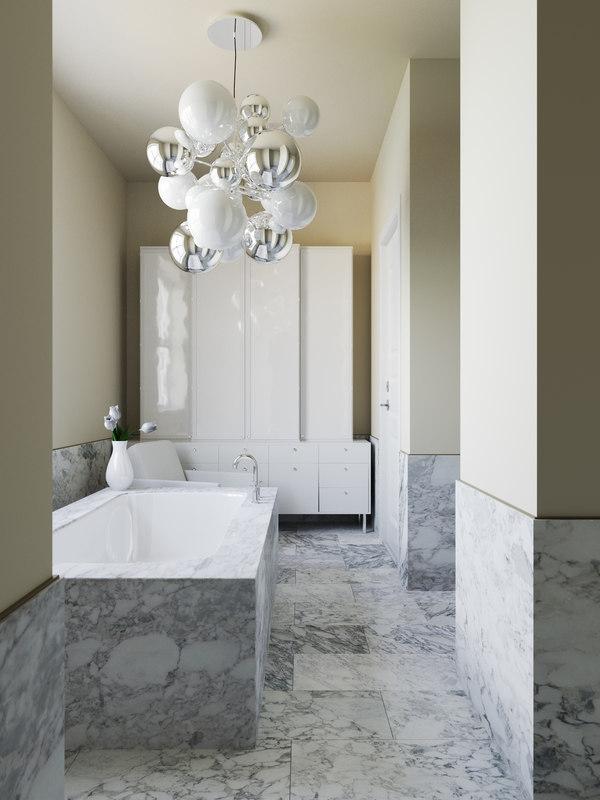 3d bathroom interior