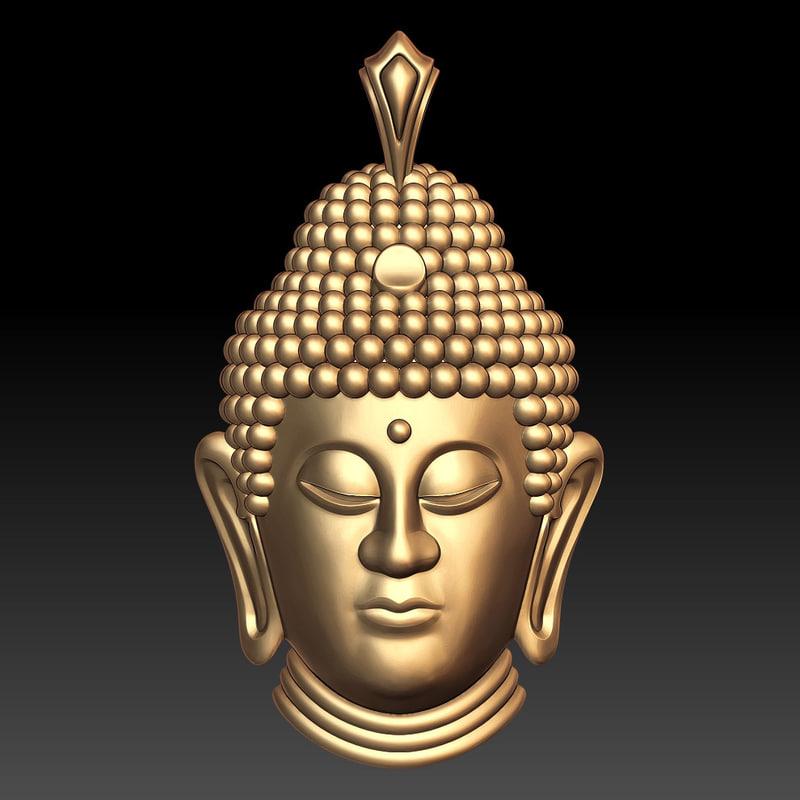 3ds max buddha head pendant