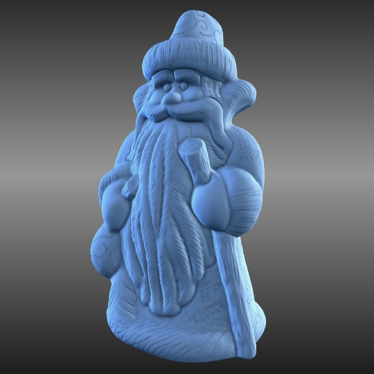 3d blend ded moroz russian new year