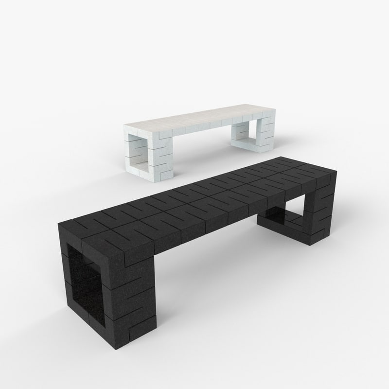 bench line 3 3d max