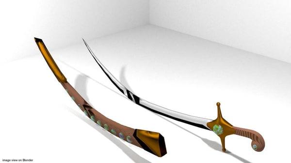 sword saif arabic 3d 3ds