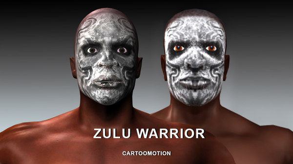 3d zulu warriors model