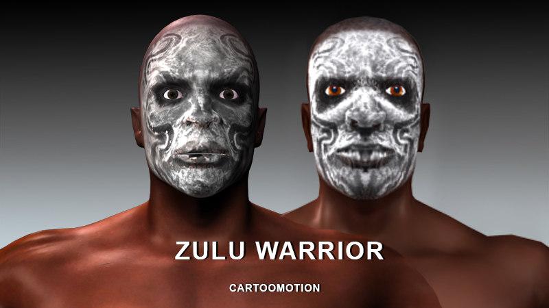 3d zulu warriors model