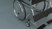 3d wheelchair wheel chair model