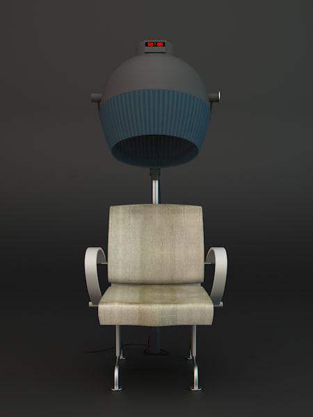 3d hair dry chair