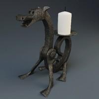 handmade candlestick 3d max