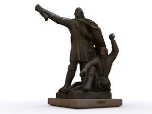 3d colonial statue diogo cao