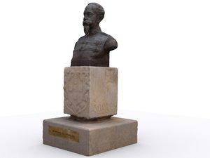 x colonial statue henrique carvalho