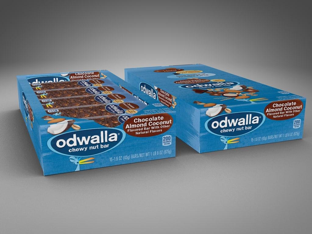 3d boxes odwalla bars model
