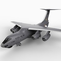 il-76md indian air force 3d model