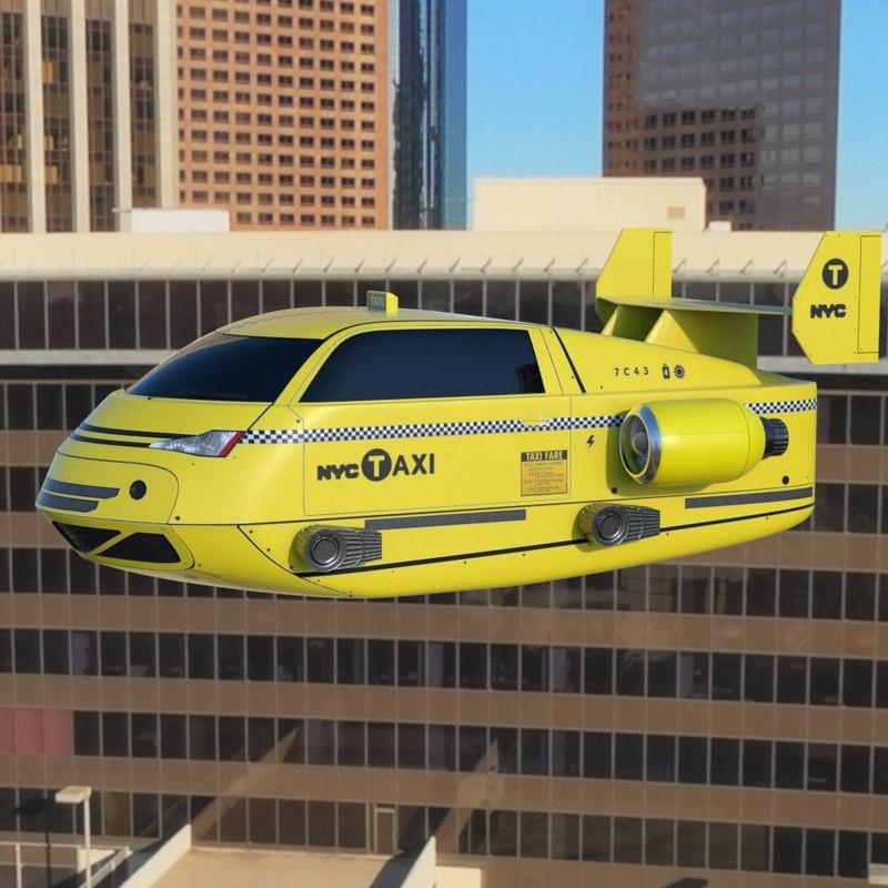 3ds max air taxi