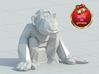3ds max new year monkeys