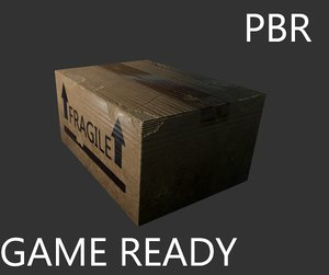 ripped cardboard box ready 3d 3ds