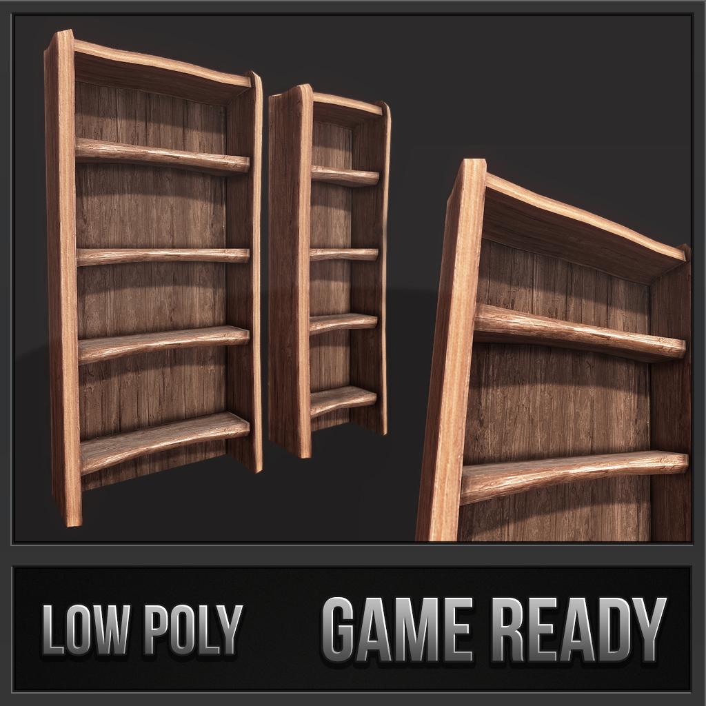 Rustic Wooden Shelf 01
