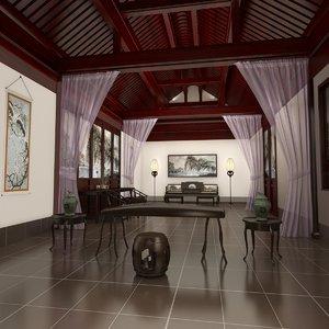 max chinese piano room interior