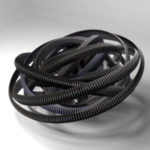 3d model plastic pipe 1