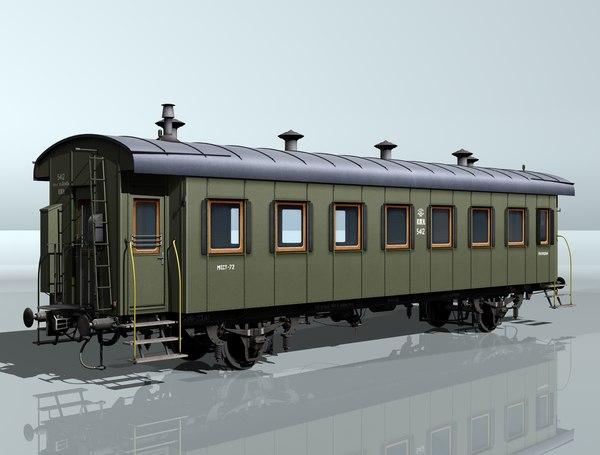 3d 3ds 2-axles passenger wagon 5412